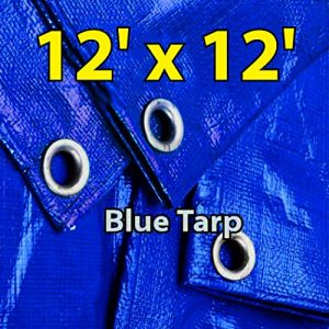 12x12-Blue-Multi-purpose-6ml-Waterproof-Poly-Tarp-Cover-with-Tent-Shelter-Camping-Tarpaulin-By-Prime-Tarps-0