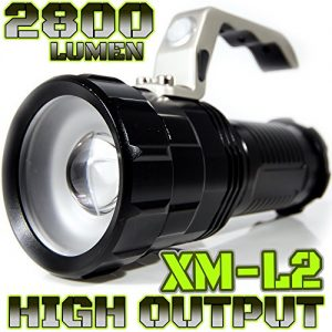 2800-LUMEN-HIGH-OUTPUT-RECHARGEABLE-ZOOMABLE-Floodlight-to-Spotlight-X-Lamp-XM-L2-CREE-LED-20-Brighter-Than-T6-LED-TACTICAL-FLASHLIGHT-BATTERIES-NOT-INCLUDED-Black-NO-Batt-0