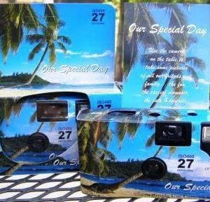 5-Pack-TropicalBeach-Disposable-Wedding-Cameras-in-Matching-Gift-Boxes-with-Table-Tents-35mm-27-Exposures-0