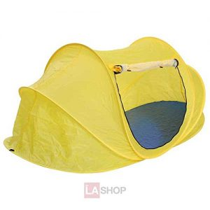 87x48x36-Inches-Portable-Foldable-Camping-Pop-Up-Beach-Tent-Yellow-Waterproof-w-Carrying-Bag-for-1-2-Person-Outdoor-Hiking-Travel-Climbing-Backyard-Sun-Shade-Shelter-0