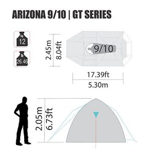 Arizona-GT-9-to-10-Person-174-by-8-Foot-Sport-Camping-Tent-100-Waterproof-2500mm-Tent-0-0