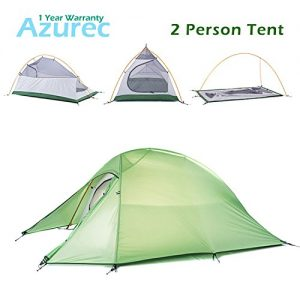 Azurec-1-2-3-Person-4-Season-Lightweight-Waterproof-Double-Layer-Backpacking-Tent-for-Camping-Hiking-Green-2-Person-0