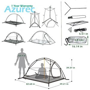 Azurec-1-2-3-Person-4-Season-Lightweight-Waterproof-Double-Layer-Backpacking-Tent-for-Camping-Hiking-Orange-2-Person-0-0
