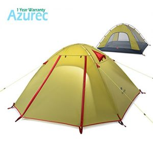 Azurec-2-3-4-Person-3-Season-Double-Doors-Lightweight-Waterproof-Double-Layer-Backpacking-Tent-for-Camping-Hiking-Green-3-Person-0