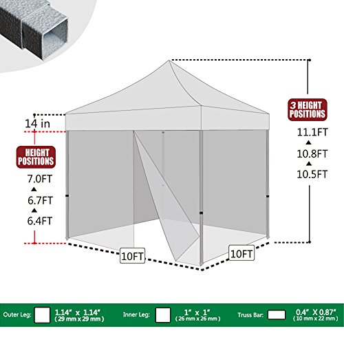 Basic-10-X-10-Ez-Pop-up-Canopy-  sc 1 st  Discount Tents Nova : canopy tent with screen sides - memphite.com
