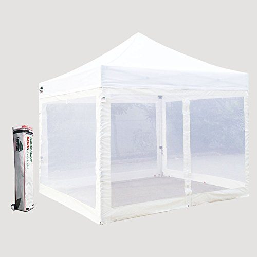 Basic-10-X-10-Ez-Pop-up-Canopy- & Basic 10 X 10 Ez Pop up Canopy Mesh Party Tent with 4 Screen Side ...