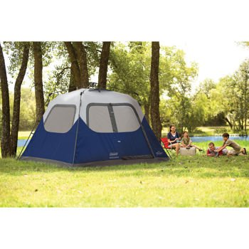Blue Coleman 10 X 9 6 Person Instant Tent Camping Trip