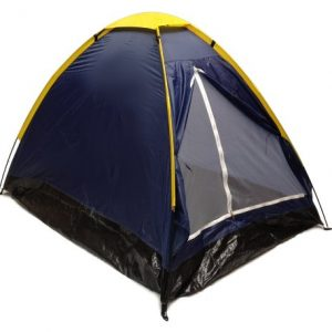 Blue-Dome-Camping-Tent-7x5-2-Person-Two-Man-Navy-Yellow-Sealed-Bottom-NEW-0