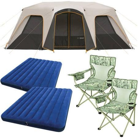 Bushnell 12 Person Instant Cabin Tent With 2 Bonus Queen