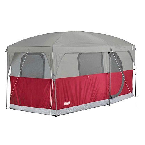 COLEMAN-H&ton-6-Person-Family-C&ing-Cabin-Tent-  sc 1 st  Discount Tents Nova & COLEMAN Hampton 6 Person Family Camping Cabin Tent w/ WeatherTec ...