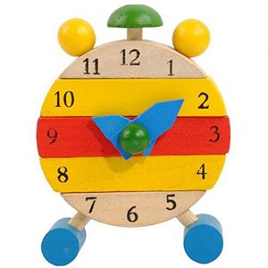 Educational-ToysBaomabao-Hand-Made-Wooden-Clock-Toys-for-Kids-Learn-Time-Clock-0