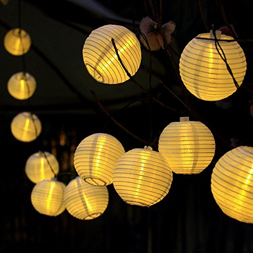 innoo tech solar string lights outdoor 20 led warm