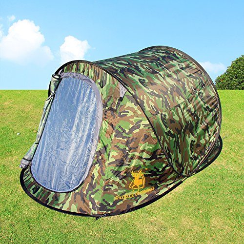 Large Pop Up Camping Hiking Tent Automatic Instant Setup ...