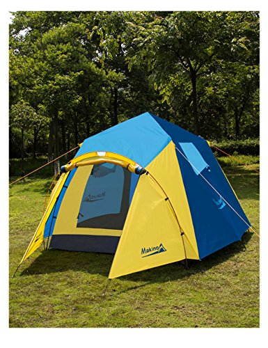 Makino 3 4 Person Tent For Camping 0053 Blue Discount