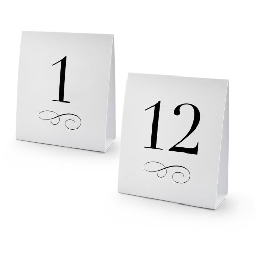 New Star 27952 Table Number Tent Style Card Set of Numbers 1 to 12 | Discount Tents Nova  sc 1 st  Discount Tents Nova & New Star 27952 Table Number Tent Style Card Set of Numbers 1 to ...