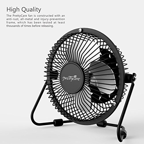 Powerful Floor Fans : Prettycare usb desk fan powerful airflow a free adapter