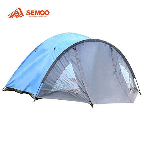 Semoo-D-Shape-Door-3-4-Person-4-Season-Lightweight-Family-Camping-Tent-with-Carry-Bag-1500mm-0-0