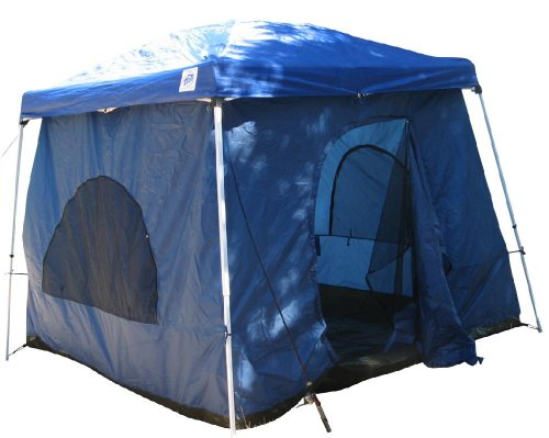 Standing room 64 hanging family cabin camping tent with 8 for Small 2 room tent