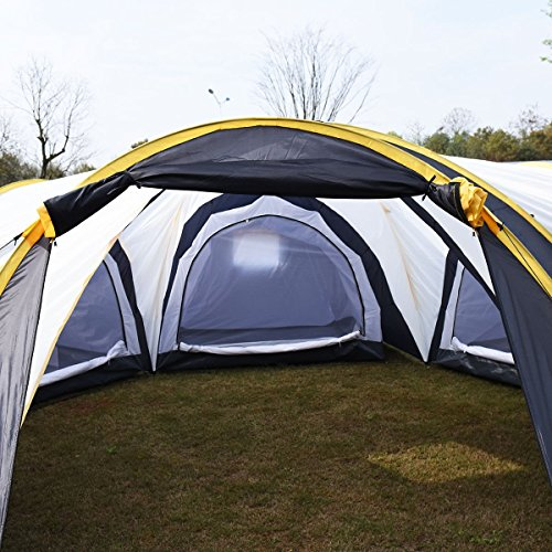 Tangkula Waterproof 6 9 Person 3 1 Room Camping Tent