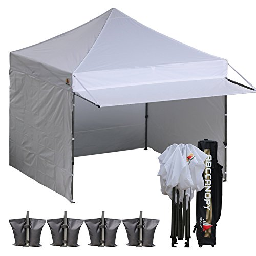 Delightful 10×10 AbcCanopy Easy Pop Up Canopy Tent Instant Shelter Commercial Portable  Market Canopy With Matching Sidewalls, Weight Bags, Roller Bag,BOUNS Canopy  ...