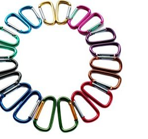 25cm-Assorted-Colors-D-Shape-Spring-loaded-Gate-Bottle-Gourd-Shaped-Aluminum-Carabiner-for-Home-Rv-Camping-Fishing-Hiking-Traveling-and-Keychain-0