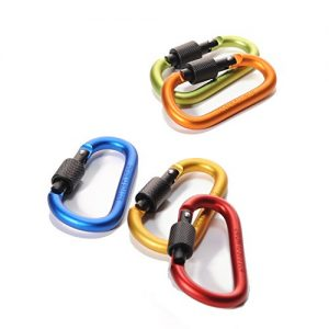 4ucycling-Aluminum-Alloy-Screw-Carabiner-D-Shaped-Lock-Spring-Clip-3-Home-Hooks-Key-Rings-Holder-Light-Weight-Pack-of-5-0