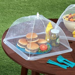 ABOEL-Set-of-4-Large-Pop-Up-Mesh-Screen-Food-Cover-Tents-Keep-Out-Flies-Bugs-Mosquitos-Reusable-0