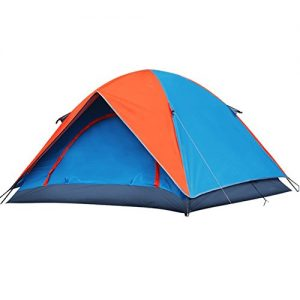 AZLife-Waterproof-Lightweight-3-4-Person-Dome-Tent-with-Carry-Bag-for-Camping-Backpacking-HikingOrange-and-Blue-0