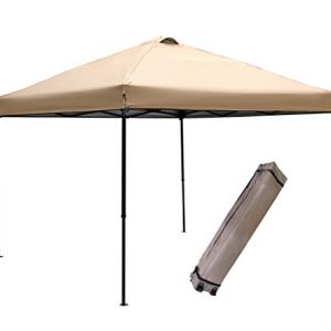 Abba-Patio-10-x-10-feet-Outdoor-Pop-Up-Portable-Shade-Instant-Folding-Canopy-with-Roller-Bag-Khaki-0