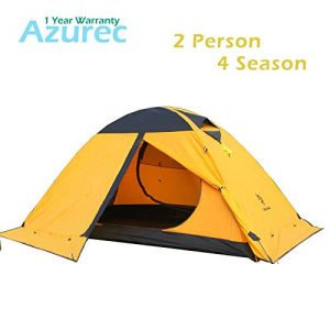 Azurec-2-Person-4-Season-Lightweight-Waterproof-Double-Doors-Double-Layer-Backpacking-Tent-with-Skirt-Edge-for-Camping-Hiking-Yellow-0