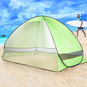 BATTOP-Big-Size-Outdoor-Automatic-Pop-up-Instant-Portable-Cabana-Beach-Tent-2-3-Person-Camping-Fishing-Hiking-Picnicing-Anti-UV-Beach-Tent-Beach-Shelter-Sets-up-in-Seconds-Green-0