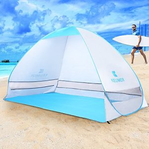 BATTOP-Outdoor-Automatic-Pop-up-Instant-Portable-Cabana-Beach-Tent-2-3-Person-Camping-Fishing-Hiking-Picnicing-Anti-UV-Beach-Tent-Beach-Shelter-Sets-up-in-Seconds-Silver-0