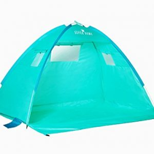 Beautiful-Turquoise-sea-blue-Automatic-large-Premium-quality-Instant-pop-up-Portable-Outdoors-Beach-Tent-UV-protected-Outdoor-Sun-Shelter-Sun-Shade-Beach-Cabana-light-weight-tent4-sand-pockets6-Pegs-0