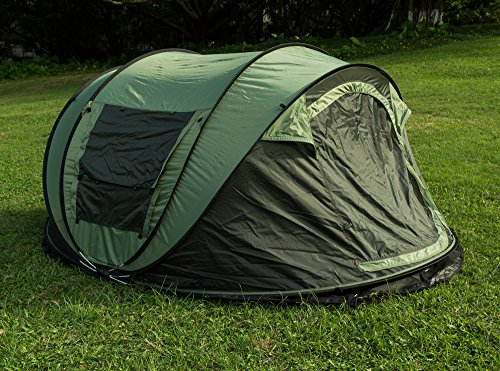 Fivejoy Instant 4 Person Pop Up Tent Set Up In Lightning
