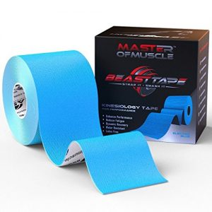 Kinesiology-Tape-Blue-Bonus-Ebook-With-Latest-Strapping-and-Taping-Applications-Therapeutic-Sports-Tape-For-Knee-Shoulder-Elbow-Ankle-Neck-Superior-Waterproof-Adhesion-Latex-Free-FDA-CE-Approved-0
