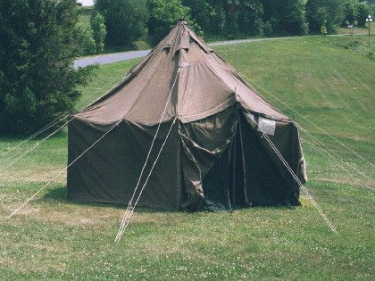 Military Army Gp Small Canvas Tent 17 6 X 17 6