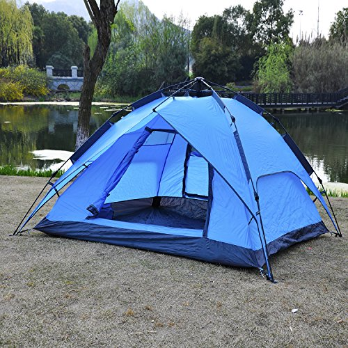 OuterEQ-Instant-Automatic-C&ing-Tent-3-4-Person- & OuterEQ Instant Automatic Camping Tent 3-4 Person Tent Outdoor ...