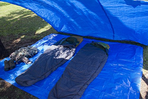 Reinforced-8×10-Waterproof-Poly-Tarp-Multipurpose-Perfect- & Reinforced 8u0027x10u2032 Waterproof Poly Tarp u2013 Multipurpose: Perfect for ...