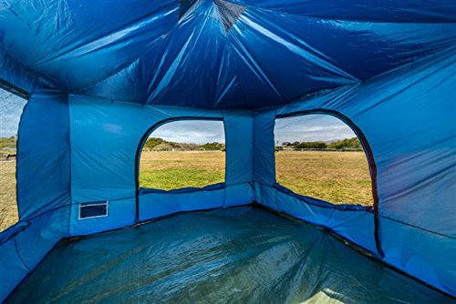 Standing Room 100 Family Cabin Camping Tent Blue With 8