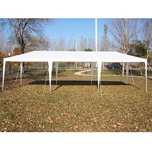 VidaGoods-10x30-White-Canopy-Party-Wedding-Outdoor-Tent-Heavy-duty-Gazebo-Pavilion-Cater-Events-04mm-Thicker-PostStrong-140g-PE-Side-Wall-Temperate-use-ONLY-NOT-for-long-term-Storage-0-0