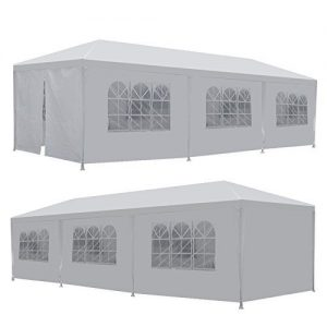 Zeny-10x30-Outdoor-Camping-White-Party-Wedding-Tent-Gazebo-Canopy-with-Sidewalls-Easy-Set-Gazebo-BBQ-Pavilion-Canopy-Cater-Events-W-8-WallsWhite-1030-0-0