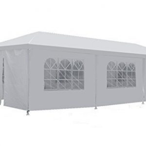 Zeny-10x30-Outdoor-Camping-White-Party-Wedding-Tent-Gazebo-Canopy-with-Sidewalls-Easy-Set-Gazebo-BBQ-Pavilion-Canopy-Cater-Events-W-8-WallsWhite-1030-0