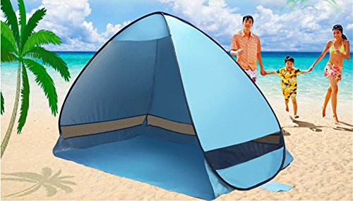 Pop Up Beach Shelters : E joy outdoor automatic pop up instant portable cabana
