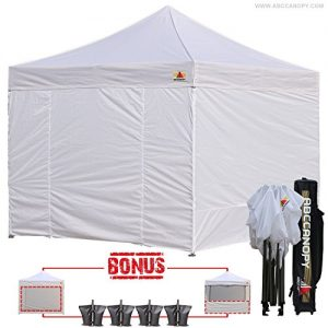 AbcCanopy-10-X-10-Ez-Pop-up-Canopy-Tent-Commercial-Instant-Gazebos-with-6-Removable-Sides-and-Roller-Bag-and-4x-Weight-Bag-0