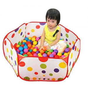 Coromose-Pop-up-Hexagon-Polka-Dot-Children-Ball-Play-Pool-Tent-Carry-Tote-Toy-0