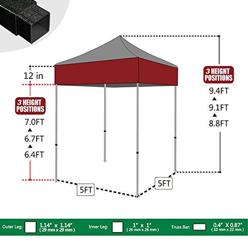 Eurmax-Basic-5×5-Ez-Pop-up-Canopy-  sc 1 st  Discount Tents Nova & Eurmax Basic 5×5 Ez Pop up Canopy Tent Gazebo with Carry Bag ...