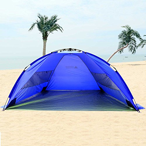 Leader-Accessories-EasyUp-Beach-Tent-Quick-Cabana-Sun- & Leader Accessories EasyUp Beach Tent Quick Cabana Sun Shelter XL ...