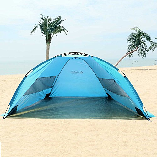 Leader Accessories Easyup Beach Tent Quick Cabana Sun