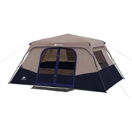 NavyTan-Ozark-Trail-8-Person-Instant-Cabin-Polyester-  sc 1 st  Discount Tents Nova & Navy/Tan Ozark Trail 8 Person Instant Cabin Polyester steel Tent ...