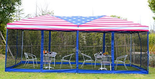 Outsunny-10-x-20-Pop-Up-Canopy-Shelter- & Outsunny 10u2032 x 20u2032 Pop-Up Canopy Shelter Party Tent with Mesh ...